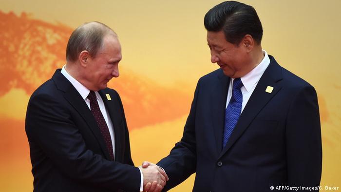 APEC Gipfel Wladimir Putin und Xi Jinping