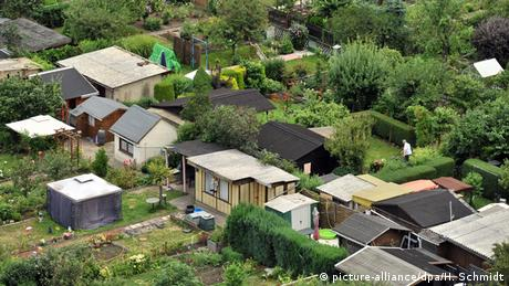 A aerial view of a German allotment garden (picture-alliance/dpa/H. Schmidt)