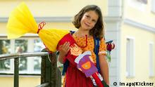 Girl with a Schultüte for the first day of school, Copyright: imago/Kickner
