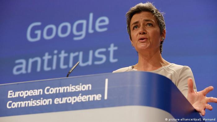 Глава антимонопольного ведомства ЕС Маргрет Вестагер представляет результаты исследования