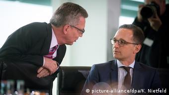 Deutschland Vorratsdatenspeicherung Thomas de Maiziere und Heiko Maas
