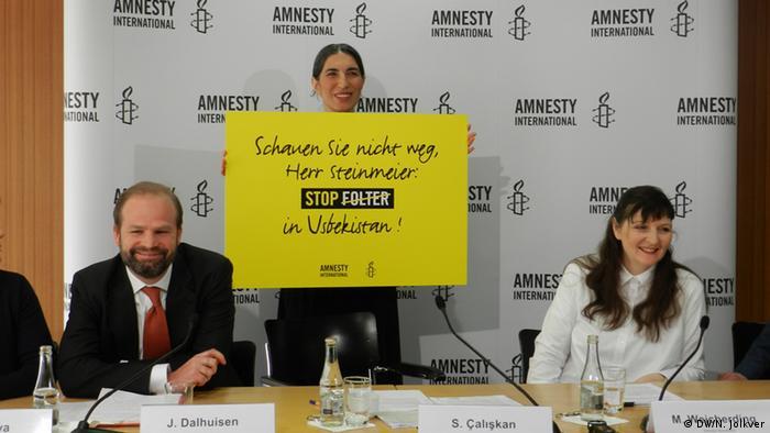 Amnesty International Bericht zu Usbekistan PK in Berlin Selmin Caliskan