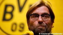 15.04.2015 * Borussia Dortmund's coach Juergen Klopp addresses a news conference in Dortmund in this December 3, 2014 file picture. Borussia Dortmund coach Juergen Klopp is leaving the German soccer club, a source at the club told Reuters on Wednesday. REUTERS/Ina Fassbender/Files