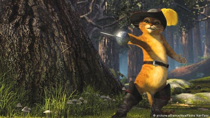 Bildergalerie Berühmte Katzen Der gestiefelte Kater aus Film Shrek