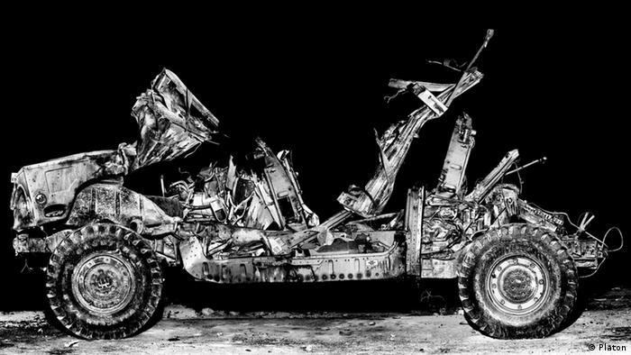 Tactical training Hummer at Medina Wasl, mock Iraqi village at Ft. Irwin, California, 2008. Copyright: Platon