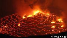 16.11.2014 Im größten Lavasee der Welt brodeln zehn Millionen Kubikmeter Magma. Copyright: DW/J. Raupp