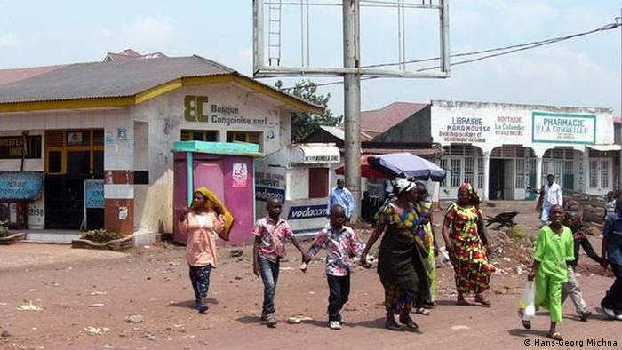 A group of people on a Goma street
