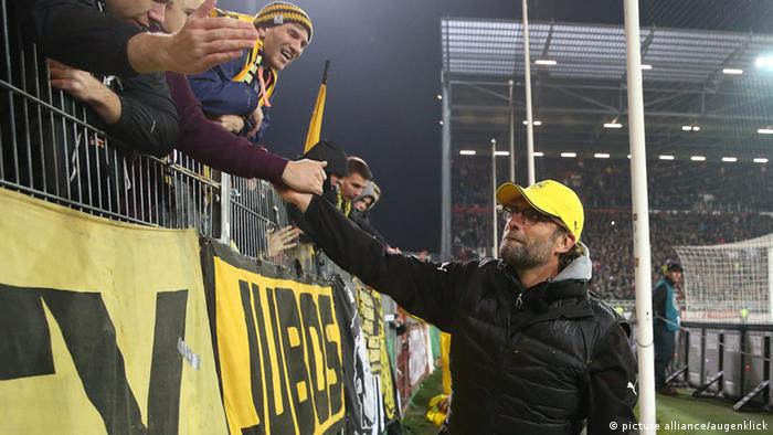 Jürgen Klopp and the Borussia Dortmund fans
