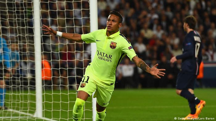 Champions League Paris vs Barcelona Neymar