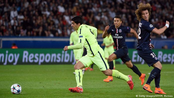 Champions League Paris vs Barcelona Suarez