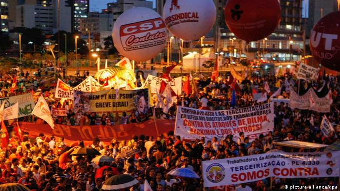 Demonstration in Sao Paulo, Brasilien