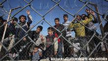 Flüchtlinge in Kyprinos Griechenland