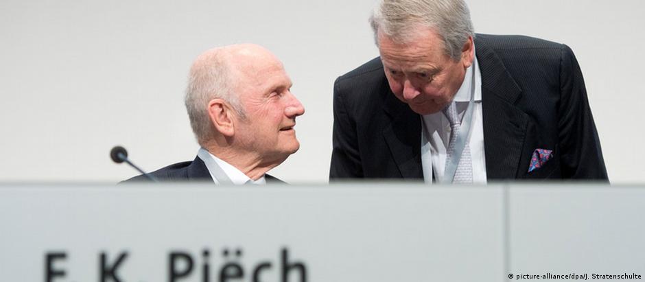 Os primos Ferdinand Piech e Wolfgang Porsche em 2012