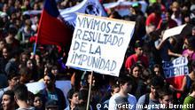 Demonstration gegen die Regierung in Santiago de Chile