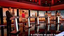 BBC Challengers Election Debate TV-Duell vor der Wahl in Großbritannien