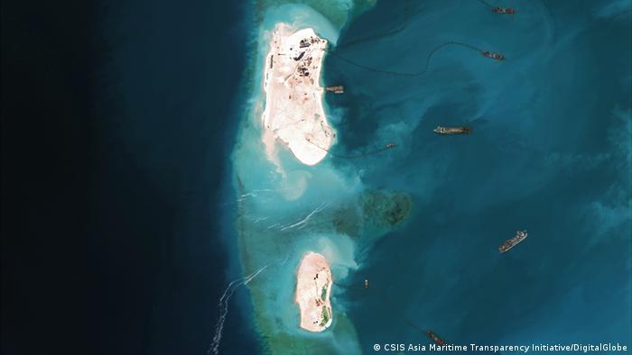 China Expansionspolitik in Südchinesischem Meer