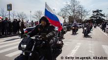 Russland Motorradclub Nachtwölfe in Sewastopol