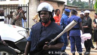 Polizist in Bujumbura