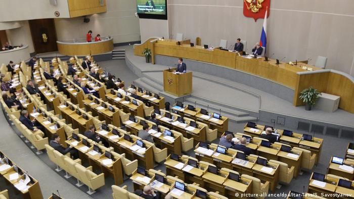 Russland Staatsduma Plenarsitzung Moskau