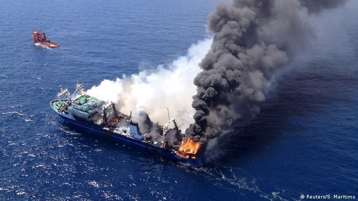 ESPA�A / GRAN CANARIA: Investigaci�n de los vertidos de un pesquero ruso hundido