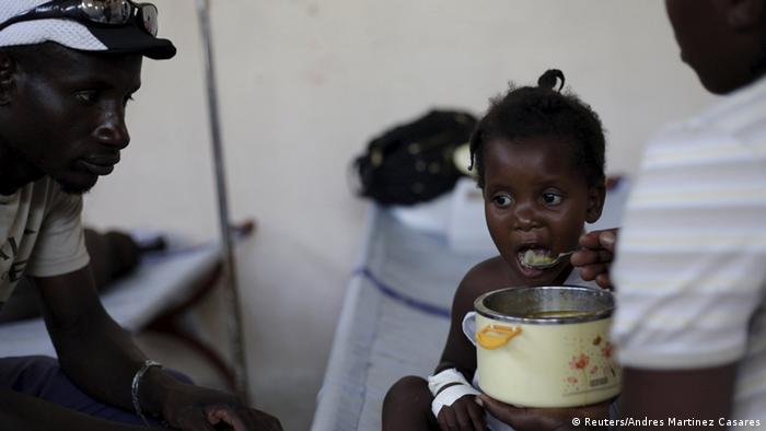 Cholera-Patienten in Port-au Prince (Reuters/Andres Martinez Casares)