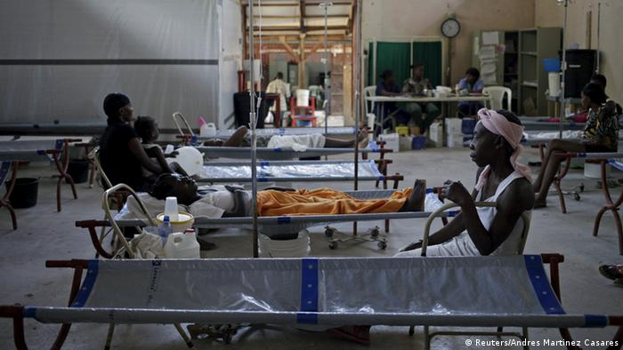Cholera-Patienten in Port-au Prince