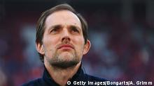 Bildunterschrift:MAINZ, GERMANY - MARCH 09: Head coach Thomas Tuchel of Mainz looks on prior to the Bundesliga match between 1. FSV Mainz 05 and Hertha BSC Berlin at Coface Arena on March 9, 2014 in Mainz, Germany. (Photo by Alex Grimm/Bongarts/Getty Images)