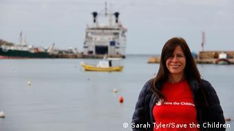 Sarah Tyler in Palermo (photo: Sarah Tyler/Save the Children)