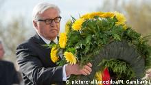 Frank-Walter Steinmeier Gedenkfeier zur Befreiung der KZ vor 70 Jahren in Brandenburg