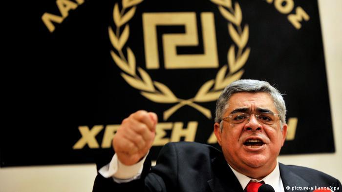 Šef Zlatne zore Nikolaos Mihaloliakos
