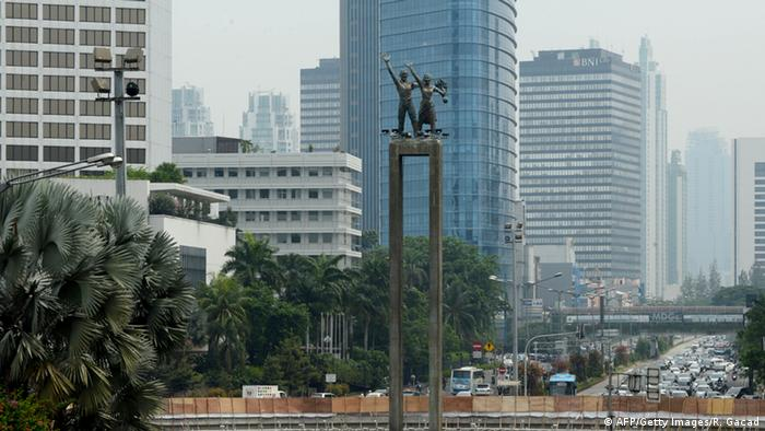 Indonesien Willkommensdenkmal in Jakarta (AFP/Getty Images/R. Gacad)