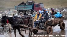 Rumänien Roma Siedlung auf einer Mülldeponie bei Cluj