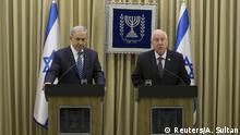 Israel Regierungsbildung PK Netanjahu und Rivlin