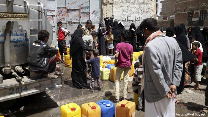 Jemen Krise Versorgung der Zivilisten in Sanaa