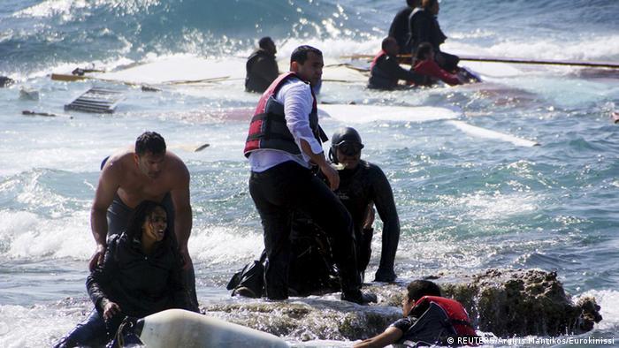Griechenland - Füchtlinge vor Rhodos