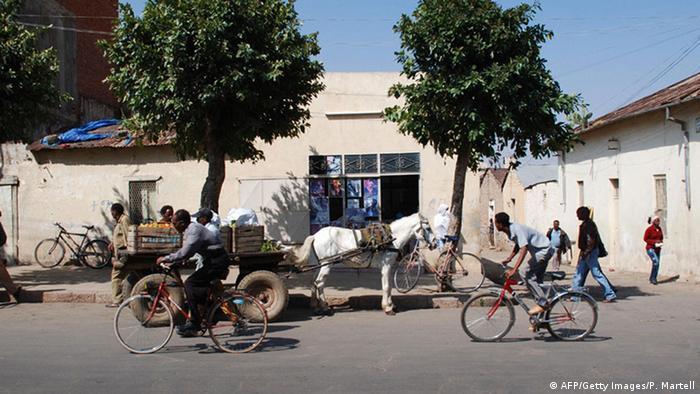 Straßenszene in Asmara, Eritrea