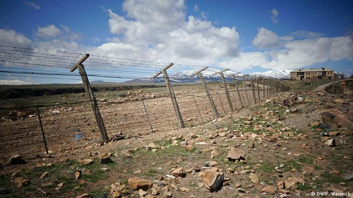 The Armenian-Turkish border a dozen meters away from Anipemza village