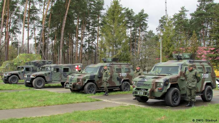 Військова техніка на Яворівському полігоні