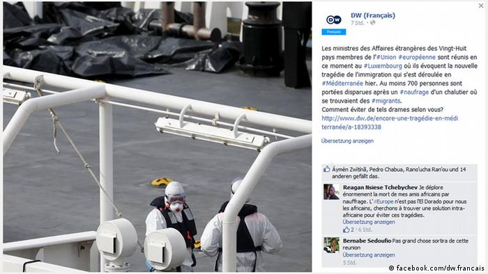 Screenshot - Deutsche Welle Facebook