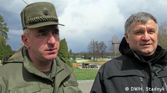 Микола Балан (л) та Арсен Аваков (п)