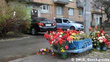 Gedenken an den ermordeten Publizisten Oles Busina in Kiew