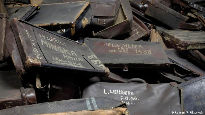 Suitcases of people killed at Auschwitz