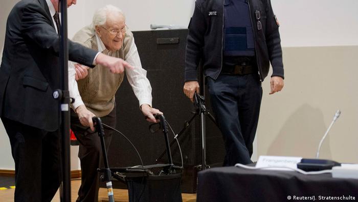 Оскар Ґренінґ під час одного з судових засідань у 2015 році