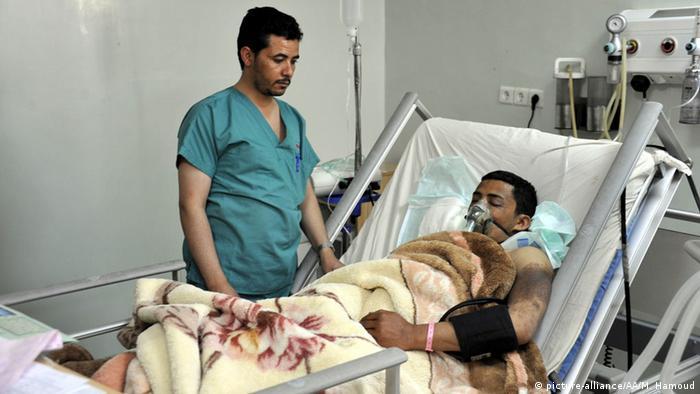Jemen Sanaa Krankenhaus Verletzte