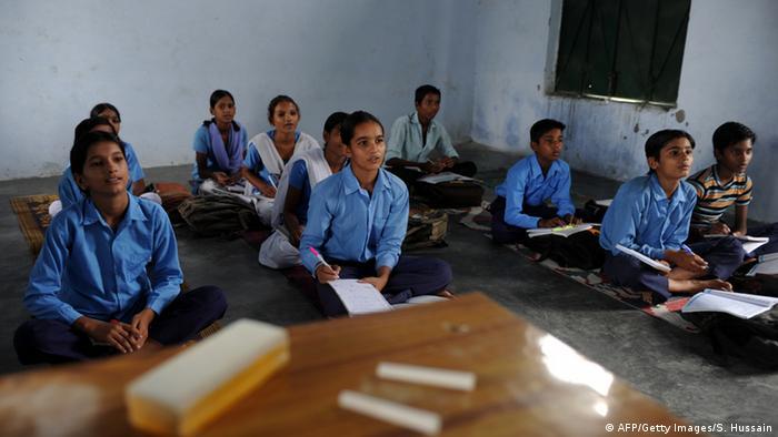 Indien Schüler Symbolbild (AFP/Getty Images/S. Hussain)