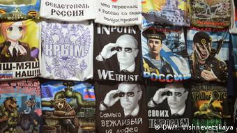 Pro-Russian T-shirts glorify the annexation of Crimea