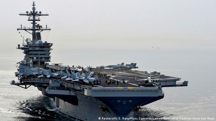 Jemen Krise US Flugzeugträger Theodore Roosevelt (Reuters//U.S. Navy/Mass Communication Specialist Seaman Anna Van Nuys)