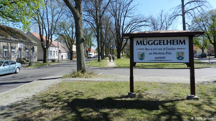 Въезд в деревню Мюггельхайм