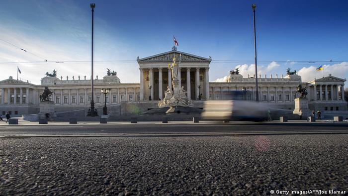 Будівля парламенту Австрії на Рінґштрассе у Відні