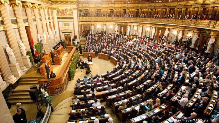 Österreich Wien Parlamentsgebäude Parlament Innenansicht